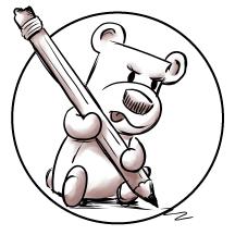 Square Bear illustration